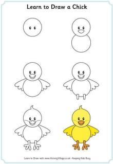 Cara Menggambar Anak Ayam