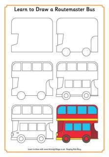 Cara Menggambar Bus Tingkat