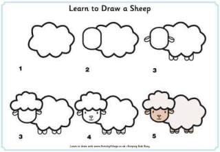 Cara Menggambar Domba