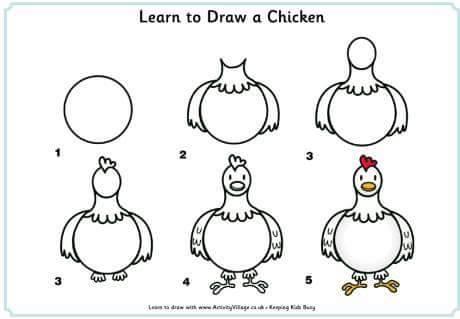 71 Gambar Ayam Yang Mudah Paling Bagus